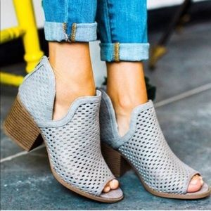 Shoes - Peep Toe Ankle Booties